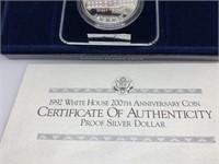 1992 200TH ANNIV WHITE HOUSE SILVER DOLLAR