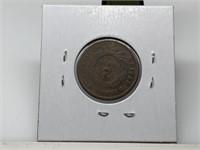 1864 2 CENT PIECE COIN