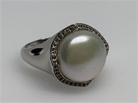 STERLING SILVER LARGE CAB RING