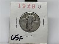 1929-D STANDING LIBERTY SILVER QUARTER