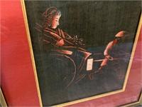 ORIGINAL ASIAN RICKSHAW THEMED ART PIECE