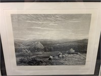 ANTIQUE ETCHING PRINT BY DAVID COX PROOF