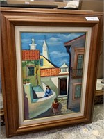 ORIGINAL PAINTING ON CANVAS BY HILARIO