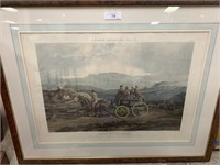 FORES'S SPORTING TRAPS ANTIQUE AQUATINT PRINT