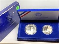 2PC LIBRTY COINS SILVER DOLLAR / HALF OGP