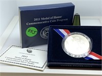 2011 MEDAL OF HONOR COMM SILVER DOLLAR / NMEDAL