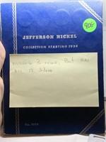 JEFFERSON NICKEL BOOK HAS ALL 12 SILVERS