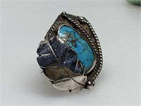 STERLING SILVER TURQUISE RING SIGNED