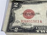 LOT OF 3 RED SEAL $2 BILLS