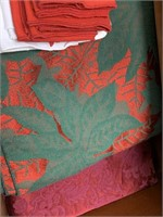 GORGEOUS RED STENCILED HIGHBOY DRESSER