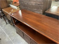 ETHAN ALLEN LARGE OFFICE CREDENZA W FILING CABINET