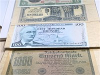 QTY 5 WORLD CURRENCY NOTES / NICE