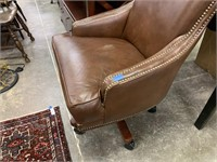 STUDDED LEATHER OFFICE CHAIR