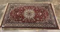 INDIO-PERSIAN HAND KNOTTED HANDMADE AREA RUG