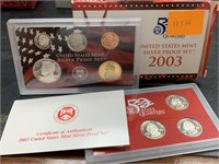 2003 SILVER US MINT PROOF COIN SET