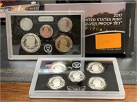 2017 SILVE US MINT PROOF COIN SET