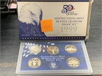 1999 QUARTERS US MINT PROOF COIN SET