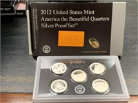 2012 SILVER QUARTERS US MINT PROOF COIN SET