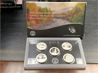 2013 SILVER QUARTERS US MINT PROOF COIN SET