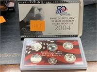 2004 SILVER QUARTERS US MINT PROOF COIN SET