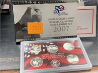 2007 SILVER QUARTERS US MINT PROOF COIN SET