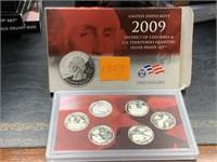 2009 SILVER QUARTERS US MINT PROOF COIN SET