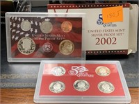 2002 SILVER US MINT PROOF COIN SET