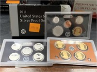 2011 SILVER US MINT PROOF COIN SET
