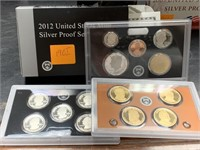 2012 SILVER US MINT PROOF COIN SET