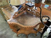 WESTERN THEMED CORNER WOOD TABLE DIFFERENT