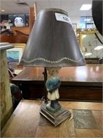 ANTQIUE CHALKWARE LAMP