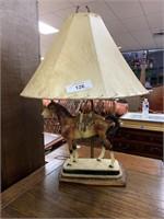 VTG FIGURAL HORSE LAMP