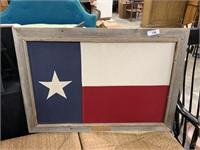 RUSTIC FRAMED TEXAS FLAG