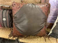3PC LEATHER PILLOWS / COW HIDE MORE