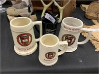 LOT OF HANDLED MUGS / BOSTON COLLEGE MORE