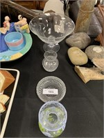 LOT OF MISC GLASSWARE/ WATERFORD CRYSTAL