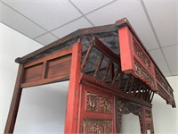 MAGNIFICENT CHINESE WEDDING BED W MATTRESS