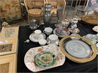 VERY LARGE LOT OF OLD CHINA / GLASS TIFFIN?  MORE