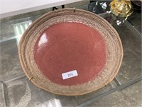 LARGE HANDMADE POTTERY CHARGER / TRAY