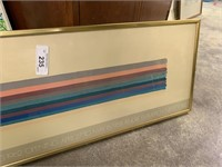 LARGE FRAMED EXHIBITION POSTER OF MORRIS LOUIS