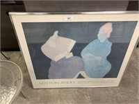 LARGE FRAME DMILTON AVERY EXHIBITION POSTER