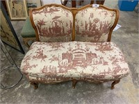 VTG FRENCH PROVINCIAL SETTEE SEE NOTES