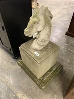 HORSE THEMED CONCRETE GARDEN ART / 3 PCS