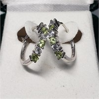 Holiday gift 18 k Gold Sterling Silver Fine Jewelry Gemston