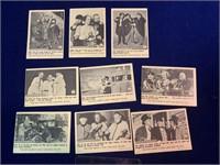 (9) Fleer Three Stooges Cards