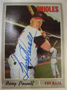 better offer discounts ever popular BOOG POWELL AUTOGRAPHED BASEBALL CARD Other Items For Sale - 1 ...