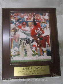 get cheap exclusive range wholesale Autographed Terrell Davis Plaque Other Items For Sale In Maryland ...