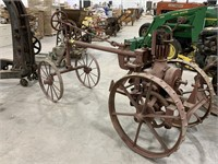 Early Antique Tractor-4 steel wheels