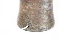 Metallic Glazed Studio Pottery Lamp