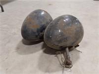 Vintage sealed beam teardrop headlamps